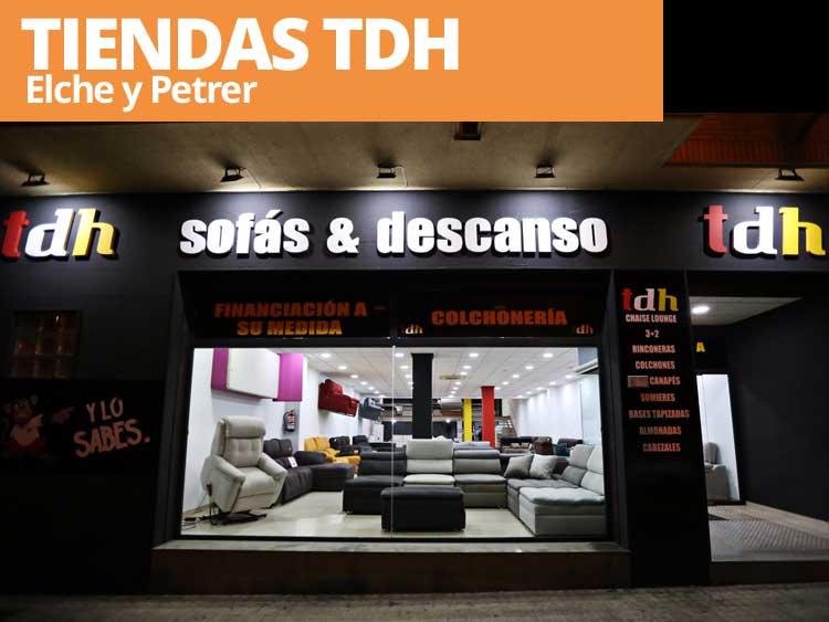 Tiendas de sofás TDH en Elche Petrer y Elda